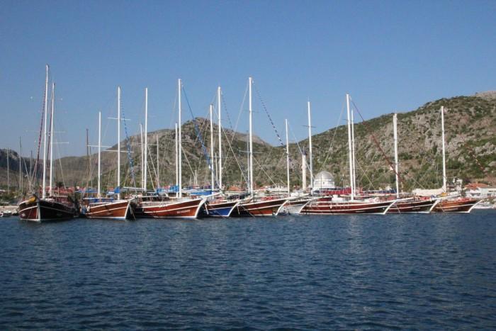 Бозбурун (Bozburun) - городок в Турции который славится своими верфями