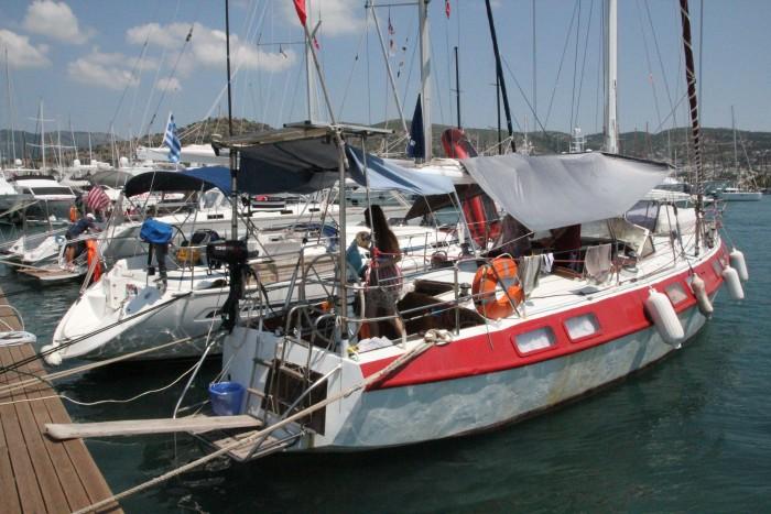 Поломка яхты в Турции в бухте Бодрума (Bodrum)
