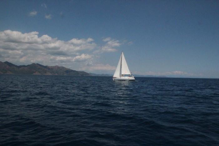 Первый день на яхте в море